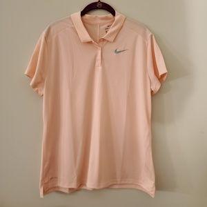 Nike Pink Dri-fit Golf Polo